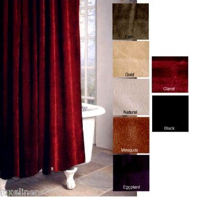 Amazon Park B Smith Rich Solid Burgundy Velvet Shower Curtain
