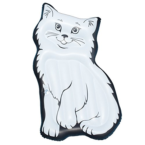 Purrrfect Cat (Giant Inflatable Island Mattress Swimming Pool Float Purrrfect Kitty Water Pool Lake Beach Toy With Ebook)