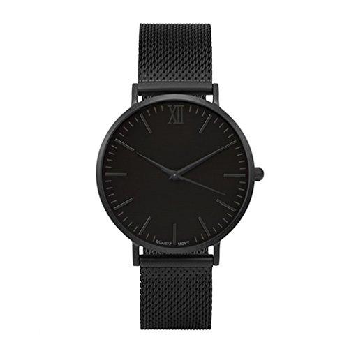 teel Mesh Strip Dress Watch Movement Quartz Analog Business Wristwatch 24cm ()