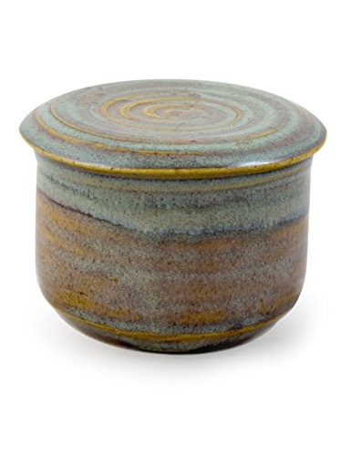 American Handmade Stoneware Pottery French Butter Keeper Crock (Sea Oats) by Modern Artisans (Image #5)