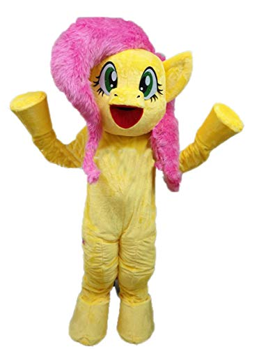 Yellow Little Pony Fluttershy Mascot Costume for Birthday