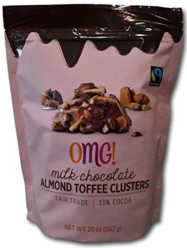 OMG! Milk Chocolate Almond Toffee Clusters- With