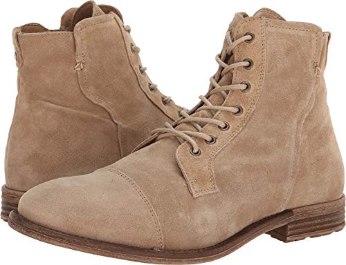 ALDO Men's KAORERIA Ankle Boot, Beige, 12 D US - Leather Ankle Boot Lace