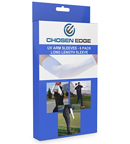 Chosen Edge UV Arm Sleeves for Men UV Protection, Large, XL, UV Sun Protection, for Golf, Running, Biking