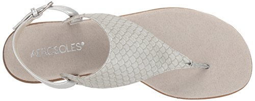 Aerosoles Conchlusion Snake Gladiator Sandal Women's Silver 66qxn7wT5r