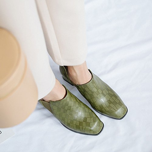 Britischen Damenschuhe LOHU Schuhe Schwarz Grün Dick High Mode Schuhe Heels Pumps Arbeit Bequeme Boots Heels Bare Court Karriere rqdFXWdw