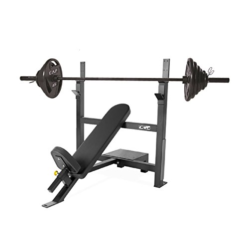 CAP Barbell 300-Pound Black Olympic Grip Set with Olympic Incline Bench by CAP Barbell (Image #8)