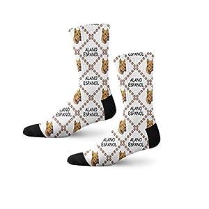 Funny Mens Socks Alano Espanol Dog Paws Polyester Crazy Socks Womens 21