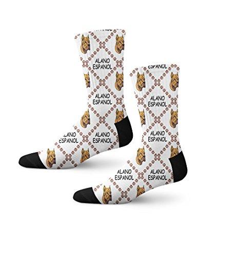 Funny Mens Socks Alano Espanol Dog Paws Polyester Crazy Socks Womens 1