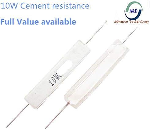 10PCS 10W 100R //-5/% Cement resistor 100 ohm