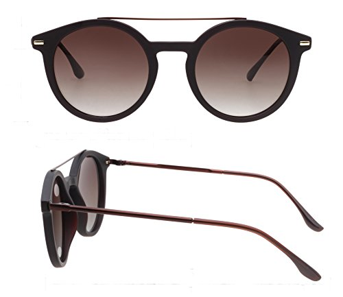 PUKCLAR Retro Round Shape Polarized Sunglasses for Men Women New Style Fashion Metal Frame - Sunglasses For Used What Are