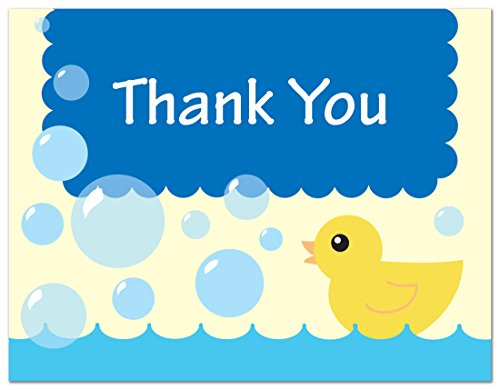 Yellow Bubbles Shower Thank Cards product image