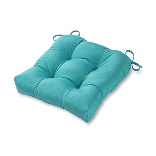 Greendale Home Fashions 20-inch Outdoor Chair Cushion, Teal - Frontgate Garden Chair