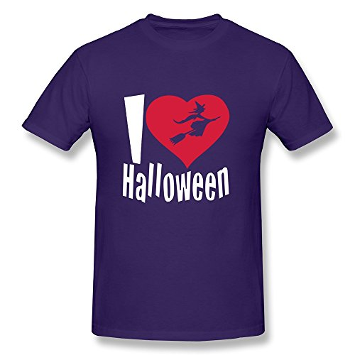 Happy Halloween 100% Cotton Men Tshirt Purple Size S Cute By Rahk -