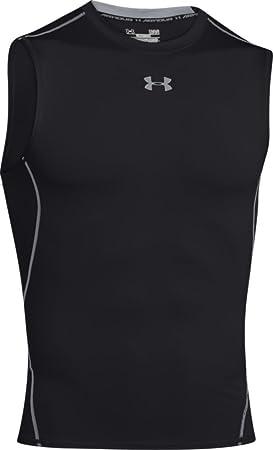 Under Armour Ua Hg Armour Sl - Camiseta sin mangas para hombre, color negro,