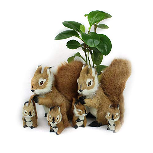 Swovo Tree Ornaments Tree Clip Squirrel with Fluffy Tail Woodland Forest Animal Christmas Tree Ornament 2PCS(Small+Big)]()