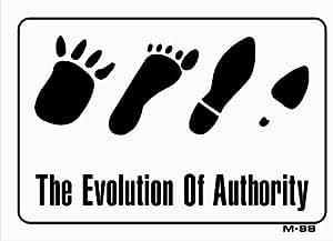 La evolución de autoridad 7x 10plástico señal