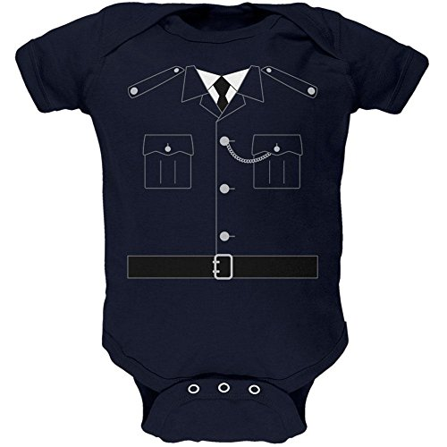 Halloween British Bobby Copper Police Costume Soft Baby One Piece Navy 3-6 (Old Navy Infant Halloween Costumes)