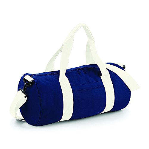 BagBase Original Barrel Bag Azul - French Navy/ Off White