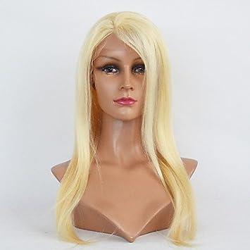 OOFAY JF® frente del cordón de primera calidad rubias pelucas de cabello humano peluca #