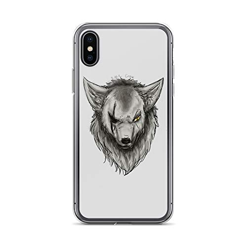 iPhone X/XS Case Anti-Scratch Creature Animal Transparent Cases Cover Old Wolf Animals Fauna Crystal Clear