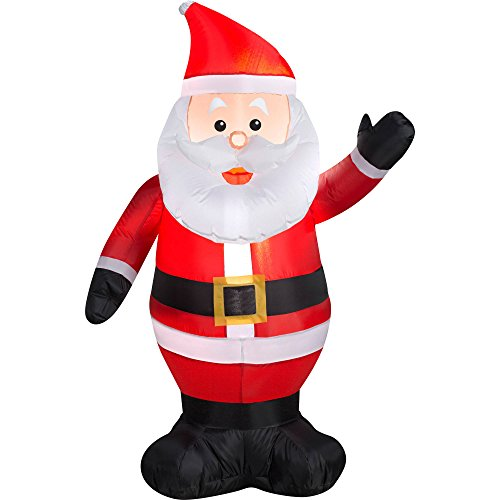 Gemmy Inflateables Holiday G08 38447 Air Blown Outdoor Santa Decor