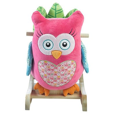 Rockabye Owlivia Pink Owl Chair Musical Rocker