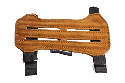 ArcheryMax 2-Strap Ventilated Leather Suede Arm Guard