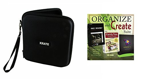 KRATE Portable Hard Carrying Travel Storage Case for External USB, DVD, CD, Blu-ray Rewriter / Writer and Optical Drives - Black