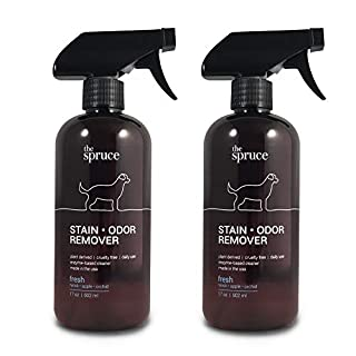 The Spruce Pet Stain & Odor Remover - Plant-Derived Enzyme-Based Cleaner for Dog and Cats Urine, Feces, Vomit, etc. Safe & Effective on Tile, Hardwood, Carpets, and Upholstery - 17 oz, 2 Pack