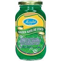 Monika . Green Nata de Coco - Dados de Gel de Coco en Conserva en Almíbar Verde - Ideal Para Postres - Producto de…