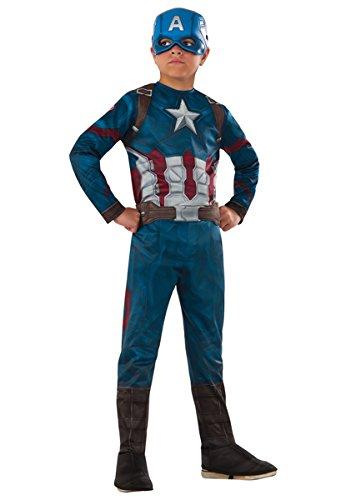 [Rubie's Costume Captain America: Civil War Value Captain America Costume, Small] (Kids Captain America Costumes)
