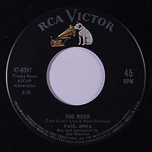 Paul Anka Eso Beso 45 Rpm Single Amazon Com Music