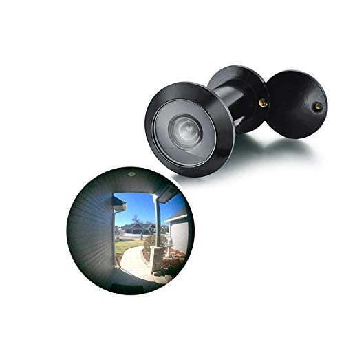 TOGU TG3016YG-BC UL Listed Solid Brass HD Glass Lens 220-degree Door Viewer Peephole with Heavy Duty Rotating Privacy Cover for 1-3/8