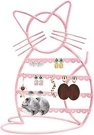 Urban Deco suporte de brinco/exibição de brinco/suporte de brinco para meninas em forma de gato, Macaron Pink