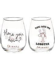 Paladone Wijnglazen, glas, meerkleurig, medium, 2