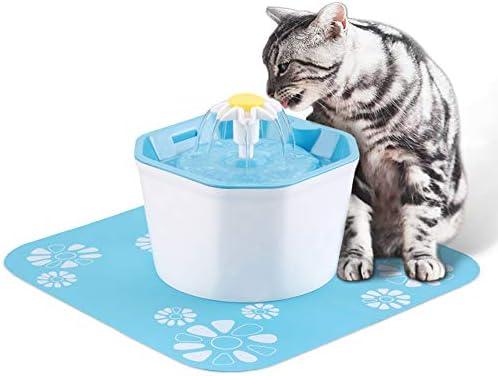 Yhomie - Fuente de Agua para Perros y Gatos, 1,6 L, dispensador de ...