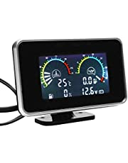 LKK-KK 4-in-1 LCD-auto Digitale LCD-instrument Oliedrukmeter Voltmeter Brandstofmeter Watertemperatuurmeter Conjoint Horloge M10