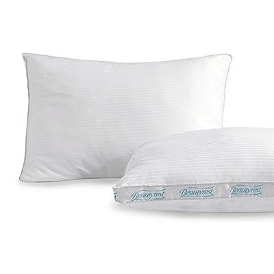 Beautyrest Firm Support Cotton Pillow (2 Pack) | Set of 2 Down Alternative 300 Thread-Count Pima Cotton Pillows