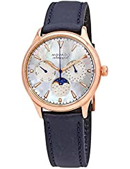 Movado Womens Swiss Quartz Stainless Steel and Leather Casual Watch, Color:Blue (Model: 3650011)