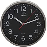 دوجانا ساعة حائط بلاستيك  ، DWG337L-GRAY-BLACK