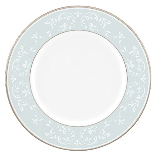 (Lenox Opal Innocence Blue Accent Plate, White)