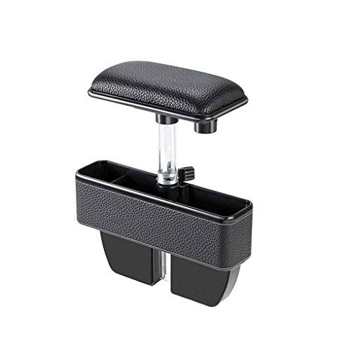 Egal Leather ABS Center Console Armrest Storage Box Elbow Supporting Multi Function Hand Elbow Console Car Accessory black