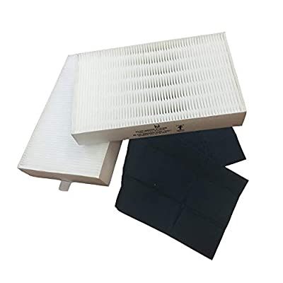 2 Honeywell 'R' Air Purifier Filter & 1 'A' Carbon Filter Kit Fits HPA090 series, HPA100 series & HPA300 series, Compare to Part # HRF-ARVP, Designed & Engineered by Crucial Air
