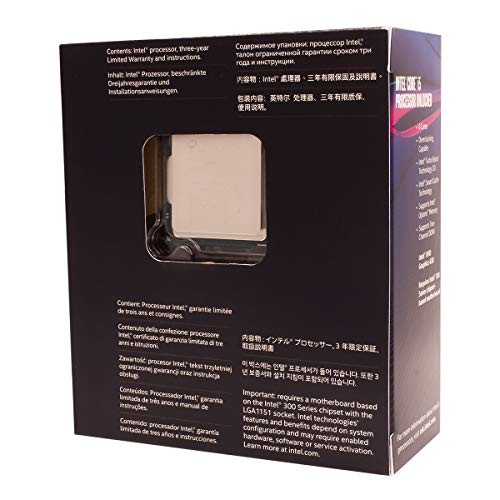 Intel Core i5-8600K, 3.6 GHZ, 9MB Cache, LGA 1151