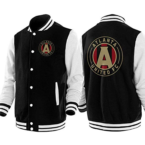 Atlanta United Racer Mens Women's Adult Baseball Jacket Uniform Coat Sport Jersey Outwear Plus Velvet ()