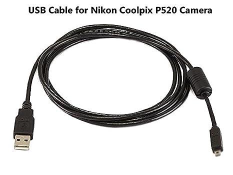 Cable USB para Nikon Coolpix P520 Cámara, y ordenador USB Cable ...