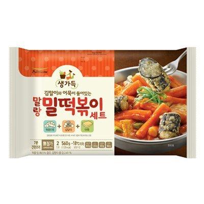 Korean Pulmuone Frozen Instant Spicy Rice Cake Tteokbokki Making Set (Spicy Rice Cake Set)