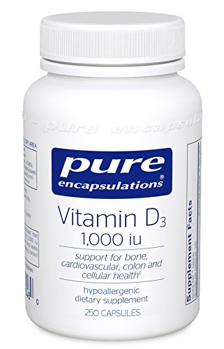 Pure Encapsulations - Vitamin D3 1,000 IU - Hypoallergenic Support for Bone, Breast, Prostate, Cardiovascular, Colon and Immune Health* - 250 Capsules