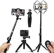 TXG Selfie Trípode Bluetooth, Palo Selfie Trípod con Control Remoto, Trípode para Celular 360°Rotación Extensi
